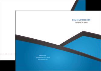 personnaliser modele de pochette a rabat bleu fond bleu couleurs froides MLIG57859