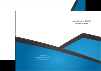 imprimerie pochette a rabat bleu fond bleu couleurs froides MIF57861