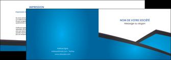 creation graphique en ligne depliant 2 volets  4 pages  bleu fond bleu couleurs froides MIF57863