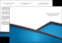 maquette en ligne a personnaliser depliant 3 volets  6 pages  bleu fond bleu couleurs froides MIF57873