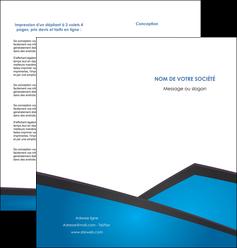 exemple depliant 2 volets  4 pages  bleu fond bleu couleurs froides MIF57875