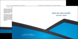 maquette en ligne a personnaliser depliant 2 volets  4 pages  bleu fond bleu couleurs froides MIF57877