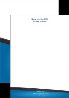 personnaliser modele de tete de lettre bleu fond bleu couleurs froides MIF57879