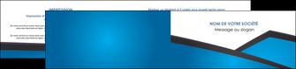 cree depliant 2 volets  4 pages  bleu fond bleu couleurs froides MIF57883