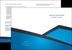 imprimer depliant 2 volets  4 pages  bleu fond bleu couleurs froides MLIG57887