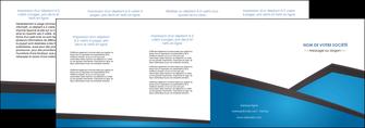 faire depliant 4 volets  8 pages  bleu fond bleu couleurs froides MIF57889