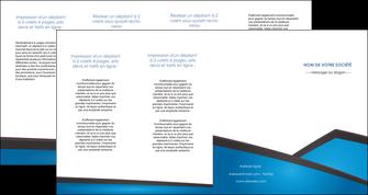 realiser depliant 4 volets  8 pages  bleu fond bleu couleurs froides MIF57893
