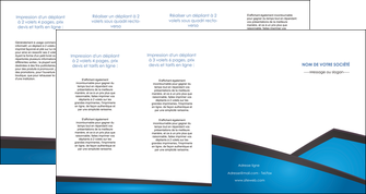 realiser depliant 4 volets  8 pages  bleu fond bleu couleurs froides MLIG57893