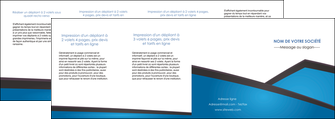 modele depliant 4 volets  8 pages  bleu fond bleu couleurs froides MIF57895