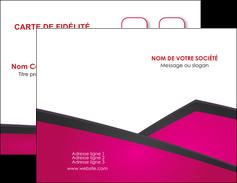 Impression impression carte vernis sélectif  Carte commerciale de fidélité papier à prix discount et format Carte de visite Double - Portrait
