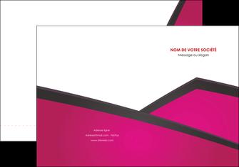 personnaliser modele de pochette a rabat fuchsia gris fond fuchsia MLIG57913