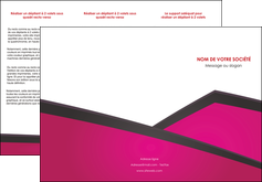 modele en ligne depliant 3 volets  6 pages  fuchsia gris fond fuchsia MIF57925