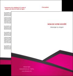 maquette en ligne a personnaliser depliant 2 volets  4 pages  fuchsia gris fond fuchsia MIF57927