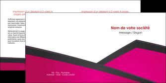 creer modele en ligne depliant 2 volets  4 pages  fuchsia gris fond fuchsia MIF57929