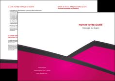 maquette en ligne a personnaliser depliant 2 volets  4 pages  fuchsia gris fond fuchsia MIF57939