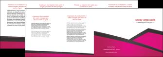 impression depliant 4 volets  8 pages  fuchsia gris fond fuchsia MIF57941