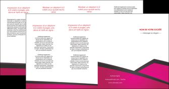 personnaliser modele de depliant 4 volets  8 pages  fuchsia gris fond fuchsia MIF57945