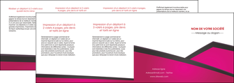 imprimer depliant 4 volets  8 pages  fuchsia gris fond fuchsia MIF57947