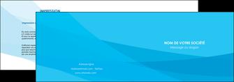 realiser depliant 2 volets  4 pages  web design bleu bleu pastel couleurs froides MIF57967