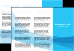 maquette en ligne a personnaliser depliant 3 volets  6 pages  web design bleu bleu pastel couleurs froides MIF57977