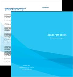 modele depliant 2 volets  4 pages  web design bleu bleu pastel couleurs froides MLGI57979