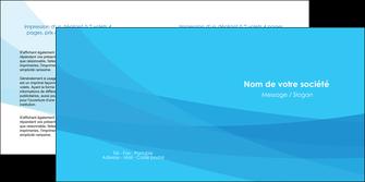 exemple depliant 2 volets  4 pages  web design bleu bleu pastel couleurs froides MIF57981