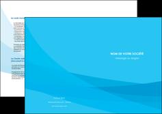 exemple depliant 2 volets  4 pages  web design bleu bleu pastel couleurs froides MIF57991