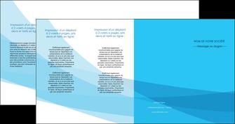 personnaliser maquette depliant 4 volets  8 pages  web design bleu bleu pastel couleurs froides MIF57997