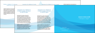 personnaliser maquette depliant 4 volets  8 pages  web design bleu bleu pastel couleurs froides MIF57999