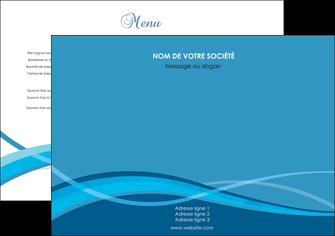 creer modele en ligne set de table bleu couleurs froides fond bleu MIF58115
