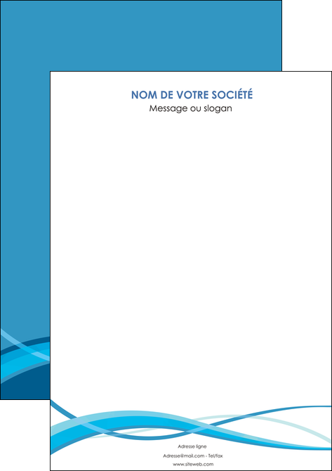 creer modele en ligne affiche bleu couleurs froides fond bleu MLGI58117