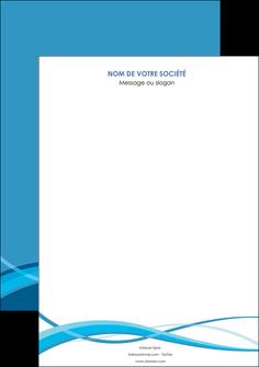 maquette en ligne a personnaliser affiche bleu couleurs froides fond bleu MIF58119