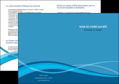 maquette en ligne a personnaliser depliant 2 volets  4 pages  bleu couleurs froides fond bleu MIF58121