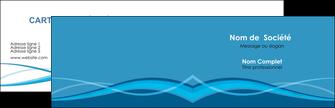imprimer carte de visite bleu couleurs froides fond bleu MIF58123