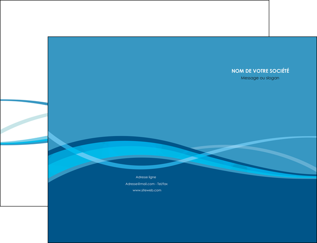 exemple pochette a rabat bleu couleurs froides fond bleu MLGI58127