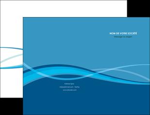exemple pochette a rabat bleu couleurs froides fond bleu MIF58127