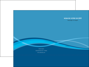 personnaliser maquette pochette a rabat bleu couleurs froides fond bleu MIF58129
