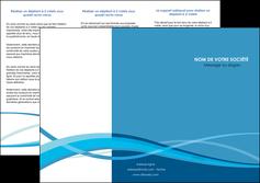 modele en ligne depliant 3 volets  6 pages  bleu couleurs froides fond bleu MIF58141