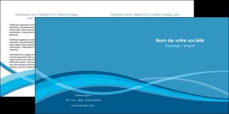realiser depliant 2 volets  4 pages  bleu couleurs froides fond bleu MIF58145