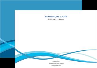 creer modele en ligne flyers bleu couleurs froides fond bleu MLGI58149
