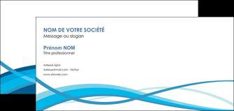 cree carte de correspondance bleu couleurs froides fond bleu MLGI58153