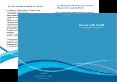 modele en ligne depliant 2 volets  4 pages  bleu couleurs froides fond bleu MIF58155