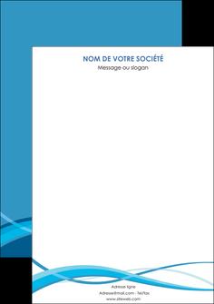 maquette en ligne a personnaliser affiche bleu couleurs froides fond bleu MIF58157