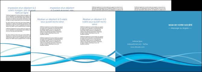 faire modele a imprimer depliant 4 volets  8 pages  bleu couleurs froides fond bleu MLGI58159