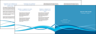 faire modele a imprimer depliant 4 volets  8 pages  bleu couleurs froides fond bleu MIF58159