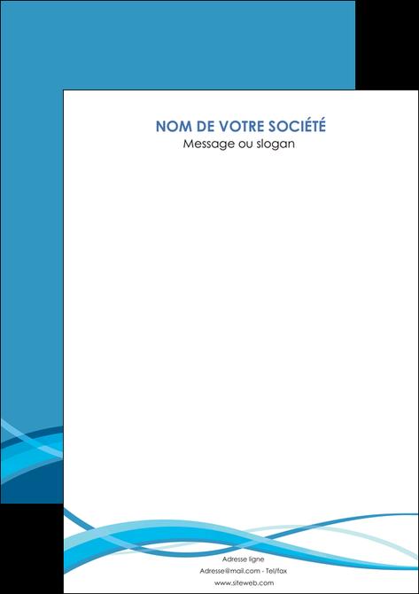 impression flyers bleu couleurs froides fond bleu MLGI58161