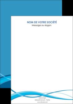 impression flyers bleu couleurs froides fond bleu MIF58161