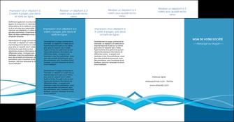 modele depliant 4 volets  8 pages  bleu couleurs froides fond bleu MIF58163
