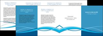 creation graphique en ligne depliant 4 volets  8 pages  bleu couleurs froides fond bleu MIF58165