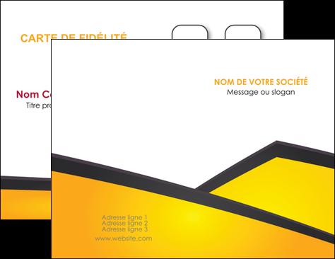 Modele Carte De Visite Jaune Fond Colore MLGI58289